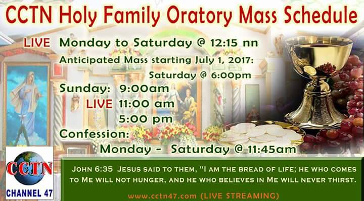 CCTN Holy Family Oratory Mass